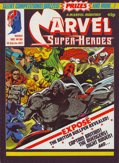 Cover for Marvel Superheroes [Marvel Super-Heroes] (Marvel UK, 1979 series) #383