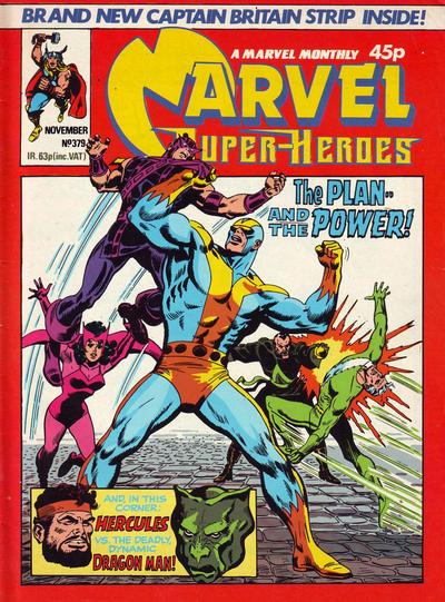 Cover for Marvel Superheroes [Marvel Super-Heroes] (Marvel UK, 1979 series) #379