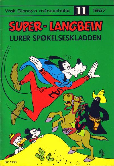 Cover for Walt Disney's Månedshefte (Hjemmet / Egmont, 1967 series) #11/1967