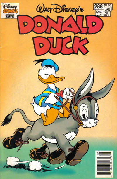 Cover for Donald Duck (Gladstone, 1986 series) #288 [Newsstand]