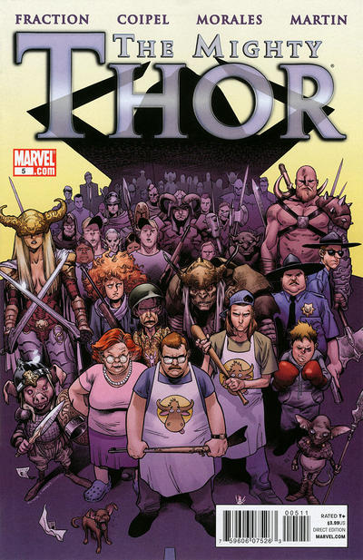 Cover for The Mighty Thor (Marvel, 2011 series) #5 [Greg Land Variant Cover]