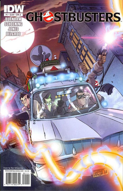 Cover for Ghostbusters (IDW, 2011 series) #1 [RI-B Incentive Dan Schoening Who Ya Gonna Call Variant Cover]