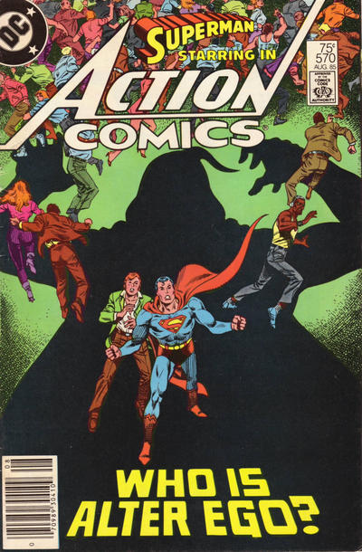 Cover for Action Comics (DC, 1938 series) #570 [Newsstand]