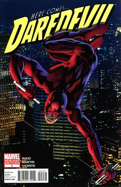 Cover for Daredevil (Marvel, 2011 series) #4 [Bryan Hitch Variant]