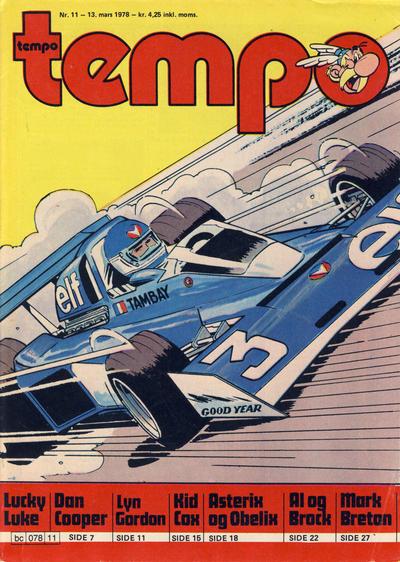 Cover for Tempo (Hjemmet / Egmont, 1966 series) #11/1978
