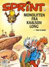 Cover for Sprint (Semic, 1986 series) #26 - Monolitten fra Kaalson Long [4. opplag]