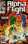 Cover Thumbnail for Alpha Flight (1983 series) #24 [Newsstand Edition]