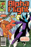Cover Thumbnail for Alpha Flight (1983 series) #21 [Newsstand]