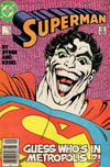 Cover for Superman (DC, 1987 series) #9 [Newsstand Edition]