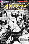 Cover for Action Comics (DC, 2011 series) #2 [Rags Morales Black & White Cover]