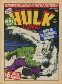 Cover Thumbnail for Hulk Comic (Marvel UK, 1979 series) #12