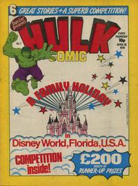 Cover Thumbnail for Hulk Comic (Marvel UK, 1979 series) #7