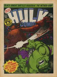 Cover Thumbnail for Hulk Comic (Marvel UK, 1979 series) #23