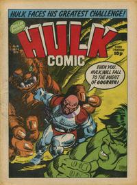 Cover Thumbnail for Hulk Comic (Marvel UK, 1979 series) #18