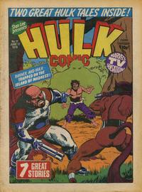 Cover Thumbnail for Hulk Comic (Marvel UK, 1979 series) #17