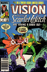 Cover Thumbnail for The Vision and the Scarlet Witch (Marvel, 1985 series) #4 [Newsstand Edition]