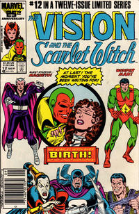 Cover Thumbnail for The Vision and the Scarlet Witch (Marvel, 1985 series) #12 [Newsstand Edition]
