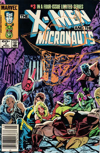 Cover Thumbnail for The X-Men and the Micronauts (Marvel, 1984 series) #3 [Newsstand Edition]