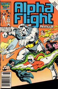 Cover Thumbnail for Alpha Flight Annual (Marvel, 1986 series) #1 [Newsstand]