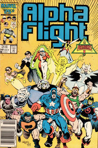 Cover Thumbnail for Alpha Flight (Marvel, 1983 series) #39 [Newsstand Edition]