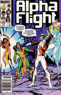 Cover Thumbnail for Alpha Flight (Marvel, 1983 series) #27 [Newsstand Edition]