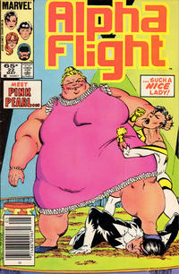 Cover Thumbnail for Alpha Flight (Marvel, 1983 series) #22 [Newsstand Edition]