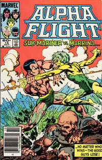 Cover Thumbnail for Alpha Flight (Marvel, 1983 series) #15 [Newsstand Edition]