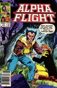 Cover for Alpha Flight (Marvel, 1983 series) #13 [Newsstand Edition]