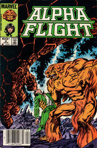 Cover Thumbnail for Alpha Flight (Marvel, 1983 series) #9 [Newsstand]