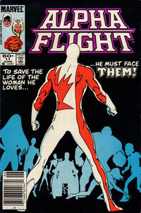 Cover for Alpha Flight (Marvel, 1983 series) #11 [Newsstand Edition]