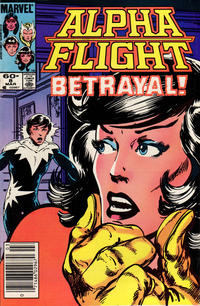 Cover Thumbnail for Alpha Flight (Marvel, 1983 series) #8 [Newsstand Edition]