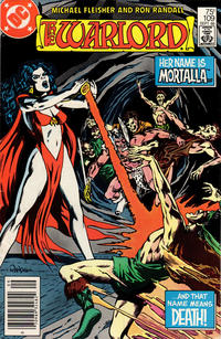 Cover Thumbnail for Warlord (DC, 1976 series) #109 [Newsstand Edition]