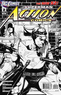 Cover Thumbnail for Action Comics (DC, 2011 series) #2 [1:200 Incentive Cover Edition]