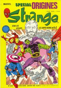 Cover Thumbnail for Strange Spécial Origines (Semic S.A., 1989 series) #229 hors série