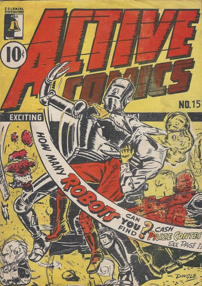 Cover for Active Comics (Bell Features, 1942 series) #15