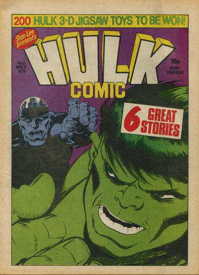 Cover for Hulk Comic (Marvel UK, 1979 series) #6