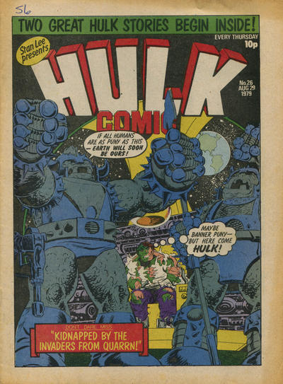 Cover for Hulk Comic (Marvel UK, 1979 series) #26