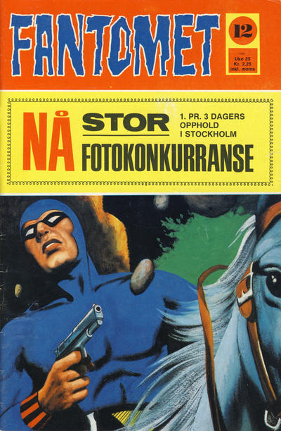 Cover for Fantomet (Romanforlaget, 1966 series) #12/1971