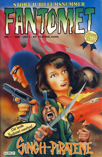 Cover for Fantomet (Semic, 1976 series) #1/1988