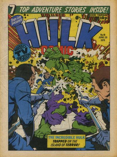Cover for Hulk Comic (Marvel UK, 1979 series) #16