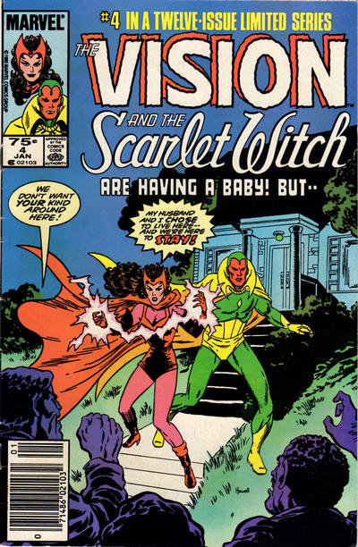 Cover for The Vision and the Scarlet Witch (Marvel, 1985 series) #4 [Direct Edition]