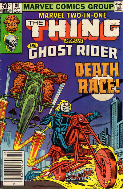 Cover for Marvel Two-in-One (Marvel, 1974 series) #80 [British]