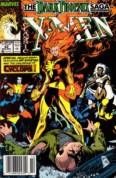 Cover for Classic X-Men (Marvel, 1986 series) #42 [Newsstand Edition]