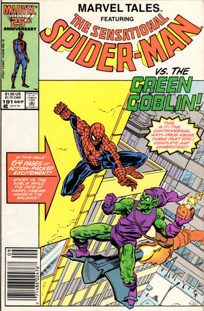 Cover for Marvel Tales (Marvel, 1966 series) #191 [Newsstand Edition]