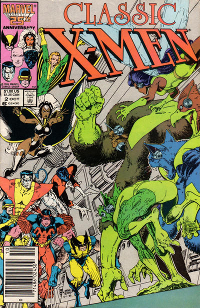 Cover for Classic X-Men (Marvel, 1986 series) #2 [Newsstand Edition]