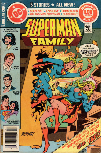 Cover for The Superman Family (DC, 1974 series) #215 [Direct]