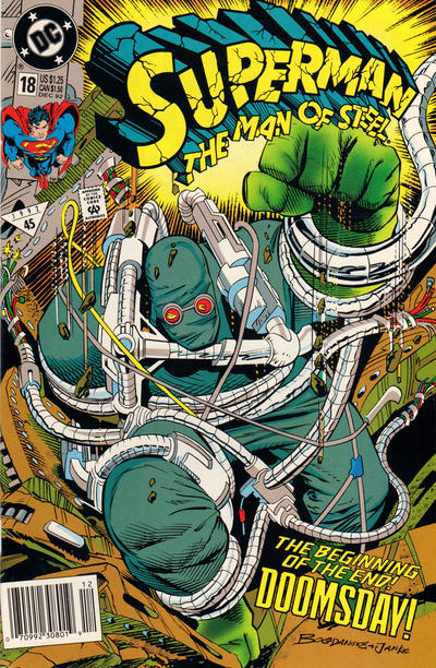 Cover for Superman: The Man of Steel (DC, 1991 series) #18 [Direct Edition]
