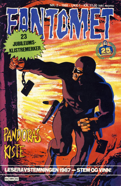 Cover for Fantomet (Semic, 1976 series) #2/1988