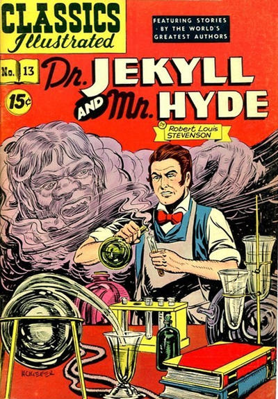 Cover for Classics Illustrated (Gilberton, 1947 series) #13 [HRN 87] - Dr. Jekyll and Mr. Hyde [15 Cent cover]