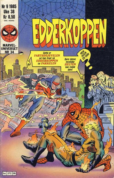 Cover for Edderkoppen (Semic, 1984 series) #9/1985